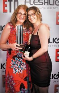 Collecting Xcite's ETO award with Kd Grace in 2014